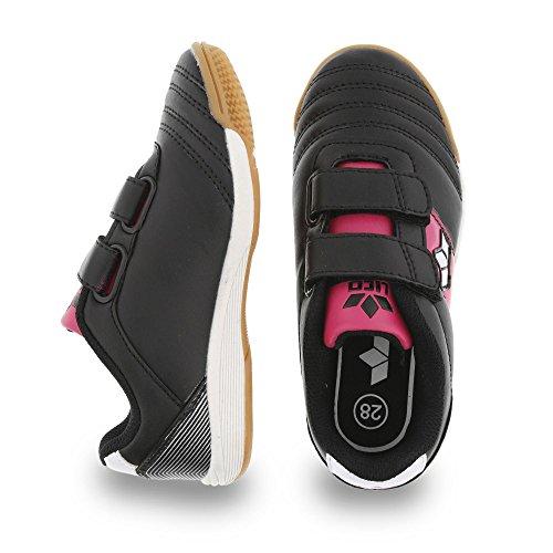 Lico 360452 - Zapatos de cordones de Material Sintético para niña Negro - SCHWARZ/PINK/WEISS