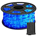 HuiZhen 100 Feet 720 LED Rope Light,2-Wire Waterproof Low Voltage Christmas Rope Lights Outdoor,Indoor Led String Lights Idear for Trees,Bridges,Eaves,Background,Pool,Wedding Use