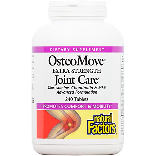 - Natural Factors - OsteoMove Extra Strength Joint Care, Promotes Comfort and Mobility with Glucosamine, Chondroitin, and MSM, Gluten Free, 240 Tablets