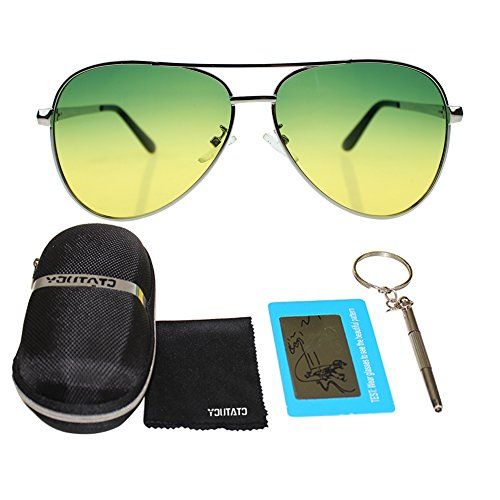 Night Driving and 400 Style UV Sports Protection Cycling Definition Mirror Fashion Men Professional Frame Sunglasses Driving For Vision Travelling For Silver Lens Day Polarized Climbing Outdoor Fishing Night High Y0HwqZA
