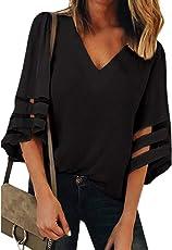 Hots!!! Teresamoon Women O Neck Tops Short Sleeve Sweatshirt Pullover Blouse T Shirt Tee