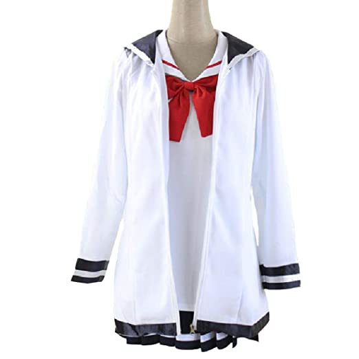 YKJ Anime Cosplay Disfraz Estudiante Uniforme Fiesta De Halloween ...