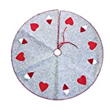 Takefuns Christmas Tree Skirt Mat Plush Handmade Tree Skirt Decorations for Indoor Outdoor Home Xmas Party Décor Christmas Tree Holiday Party Decoration(40 inch)