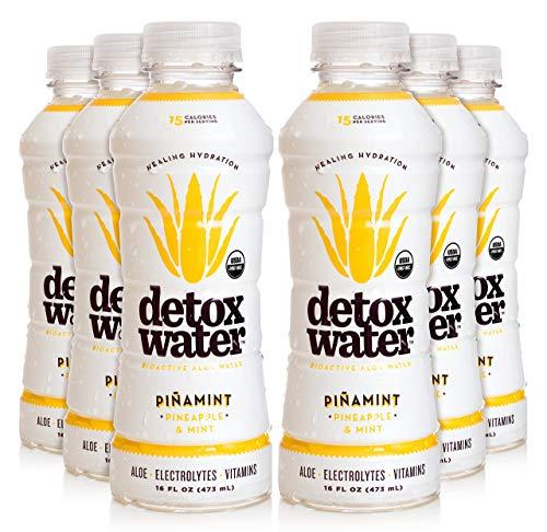 detoxwaterTM Bioactive Aloe Water Piñamint Pineapple amp Mint 16 Fluid Ounces Pack of 6