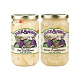 Jake & Amos Cauliflower Variety Pack 16 oz. Pickled Sweet, Pickled Hot & Sweet (1 Jar of Each)