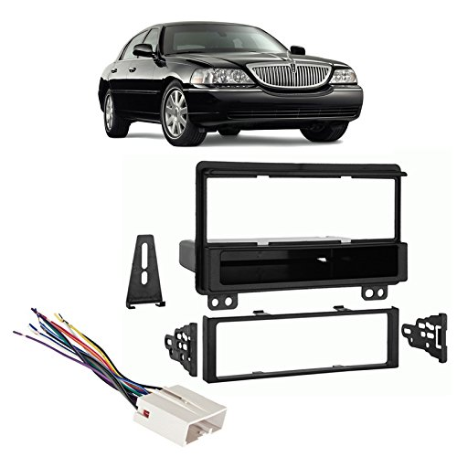 Lincoln Radio Install Kit (Fits Lincoln Town Car 03-11 Single DIN Stereo Harness Radio Install Dash Kit)