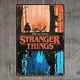 Amazon.com: crzcrz Stranger Things Metal Tin Sign Bar Pub ...
