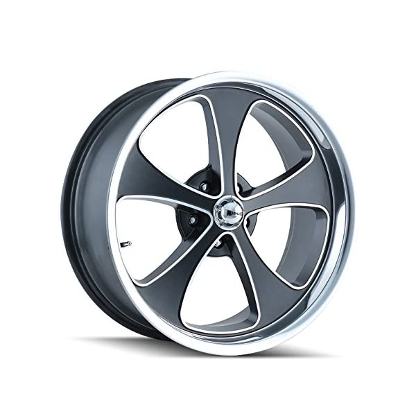 Ridler-645-2173MBP-Style-645-Matte-Black-Wheel-with-Machined-FacePolished-Lip-20x105x127mm