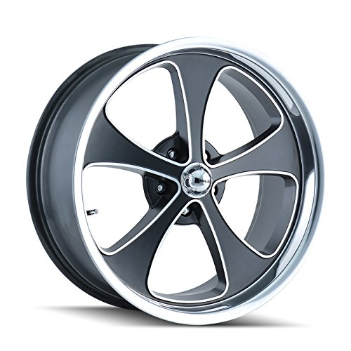 - Ridler 645-8885MBP Style 645 Matte Black Wheel with Machined Face/Polished Lip (18x8