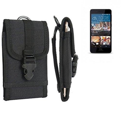 bolsa del cinturón / funda para HTC Desire 728G Dual SIM, negro   caja del teléfono cubierta protectora bolso - K-S-Trade (TM)