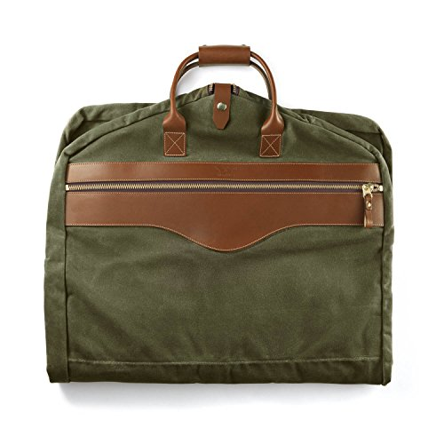 White Wing Men's Waxed Canvas Garment Bag Chestnut and Forest by White Wing