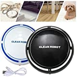ThreeCat Automatic USB Rechargeable Smart Sweeping Robot Vacuum Floor Cleaner Sweeping Suction (Black)