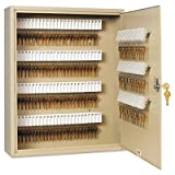 Uni-Tag Key Cabinet, 160-Key, Steel, Sand, 16 1/2 x 4 7/8 x 20 1/8, Sold as 1 Each