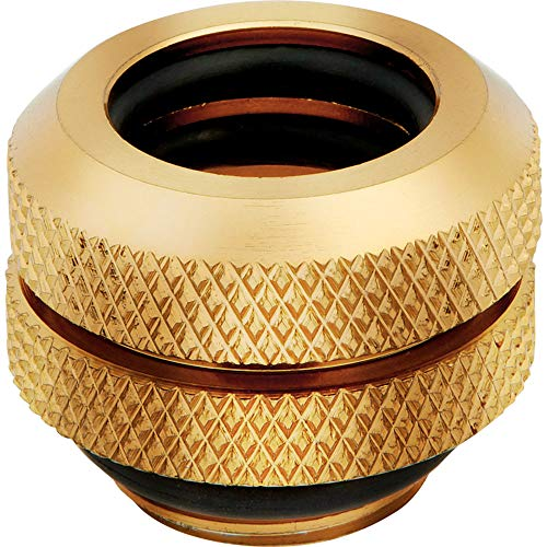Corsair Hydro X Series XF Hardline 12mm OD Fitting Four Pack - Gold