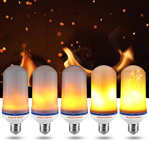 ZOYPO LED Flame Effect Light Bulb, E26 LED Flickering Fire-Effect Light Bulbs, 105pcs 2835 LED Beads (6.1 x 2.3 inches) Atmosphere Lighting Vintage Fire-Effect Light Bulb for Home/Business Decoration by ZOYPO (Image #4)
