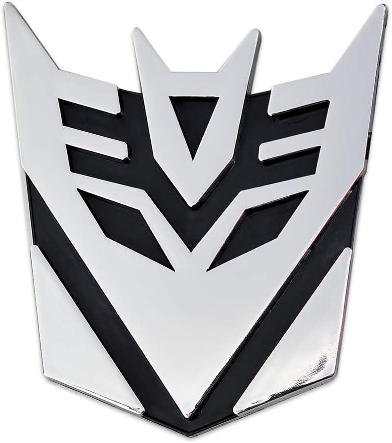 3 Tall The Masonic Exchange TME-EMB-00087 Transformer Decepticon Chrome Finish Auto Emblem