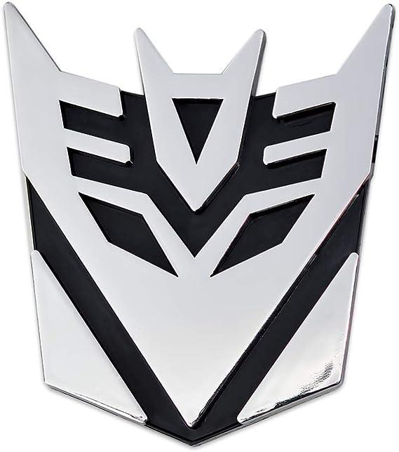 5 Tall Transformer Decepticon Auto Emblem Black