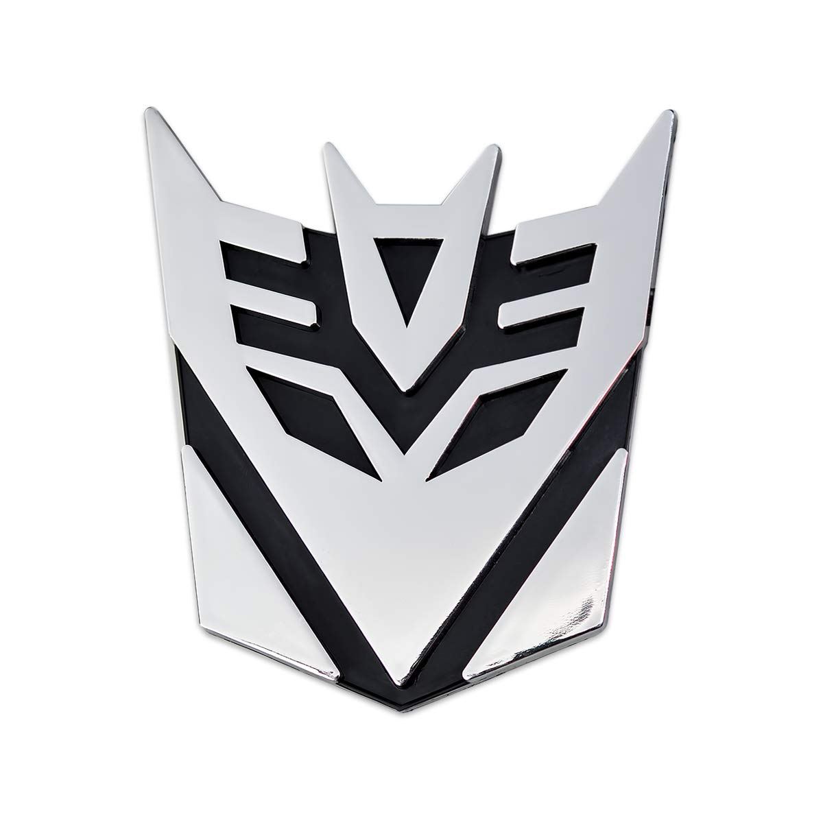 Decepticon Transformer Chrome Finish Auto Emblem 3 Tall The Masonic Exchange TME-EMB-00087-2