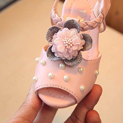 BZLine Baby Perle Kleinkind Kinder Floral Pricness Casual Sandalen Schuhe Pink