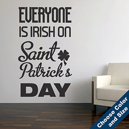 Urban Decal, Everyone Is Irish Wall Deca - 36x60 Slate Shopping Results