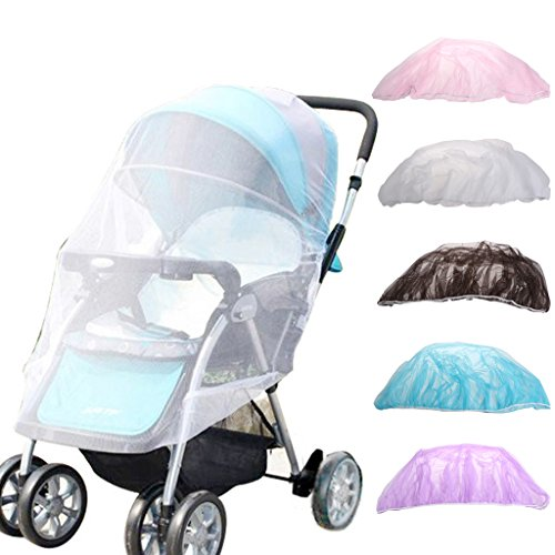 SCASTOE Mosquito Net, Summer Baby Stroller Insect Net Safe Mesh Pushchair Mosquito Net Netting Cover 150cm