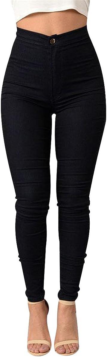 Isshe Pantalones Cintura Alta Skinny Mujer Pantalon Slim Tiro Alto Mujer Jeggings Leggins Push Up Senora Leggings Deporte Pantalones Talle Alto Deportivos Elasticos Mujer Tallas Grandes Leggings Ropa