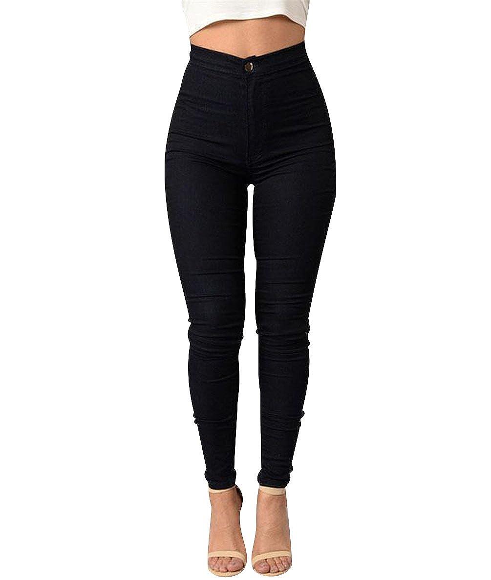754e7a6ed0 ISSHE Pantalones Cintura Alta Skinny Mujer Pantalon Slim Tiro Alto Mujer  Jeggings Leggins Push Up Señora Leggings Deporte Pantalones Talle Alto  Deportivos ...