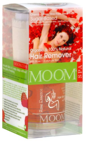 Wax Sugar Body (Moom Organic Hair Removal Kit With Rose, 6-Ounce Package)