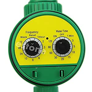 Dos Dial Automático Agua electrónico temporizador jardín riego riego controlador
