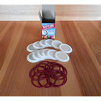 Tattler Reusable Regular Mouth Canning Lids & Rubber Rings - 12/pkg