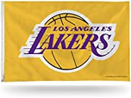 NBA Los Angeles Lakers 3-Foot by 5-Foot Single Sided Banner Flag with Grommets, Yellow