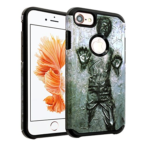 "Price comparison product image iPhone 7 Case, IMAGITOUCH 2-Piece Style Armor Case with Flexible Shock Absorption Case and Star Wars Han Solo Cover for iphone 7 4.7"" – Han Solo Hybrid"