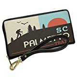 Wallet Clutch US Hiking Trails Palmetto Trail - South Carolina with Removable Wristlet Strap Neonblond