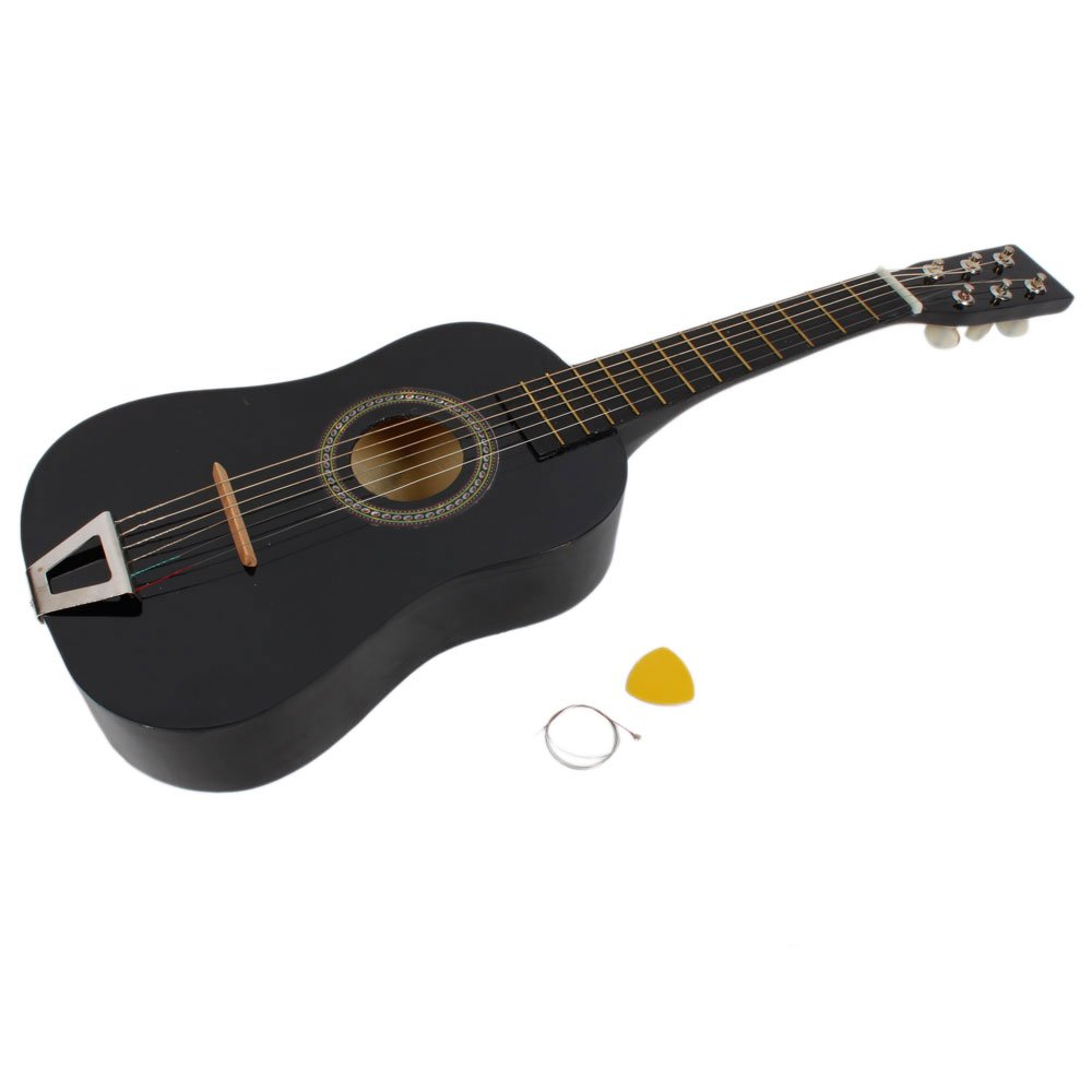 FireKingdom 23 インチ Children's Kids Wood Toy アコースティックギター with Pick and Strings , Black アコースティックギター アコギ ギター (並行輸入) B00VUDBBHM