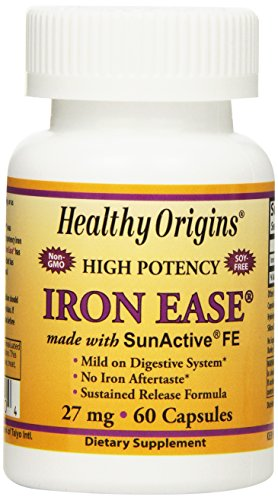 Healthy Origins Iron Ease as Sun-Active Capsules, 60 Count