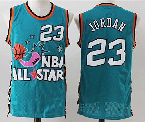 Mens Chicago Bulls Michael Jordan #23 All Star Basketball Jersey Green L (Michael Jordan Champion Jersey compare prices)