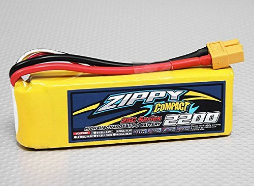 ZIPPY Compact 2200mAh 3S 25C Lipo Pack by Zippy (Series 25c)
