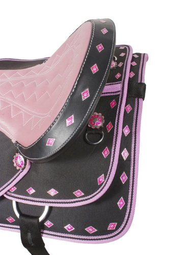 NEW Beautiful Synthetic Ostrich Western Show Nice Horse Saddle Tack Set