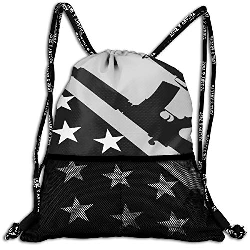 Traveling Sport Gym Beam Bag Gun USA Flag