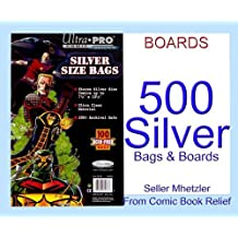 500 Silver Ultra Pro Bags and Boards for Comic Books by Ultra Pro