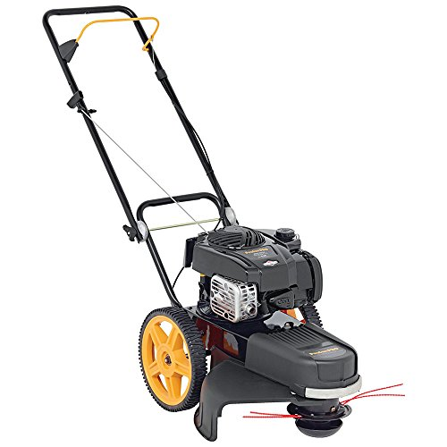 Poulan Pro 961720015 190 cc High Wheel Lawn Trimmer Mower, - Trimmer Grass Cut