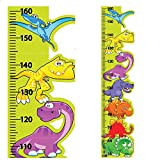 Dinosaur Height Chart Kids Wall Stickers Wall Decals Peel and Stick Removable Wall Stickers for Kids Nursery Bedroom Living Room StickersMagic WSM-HC-FBA-009