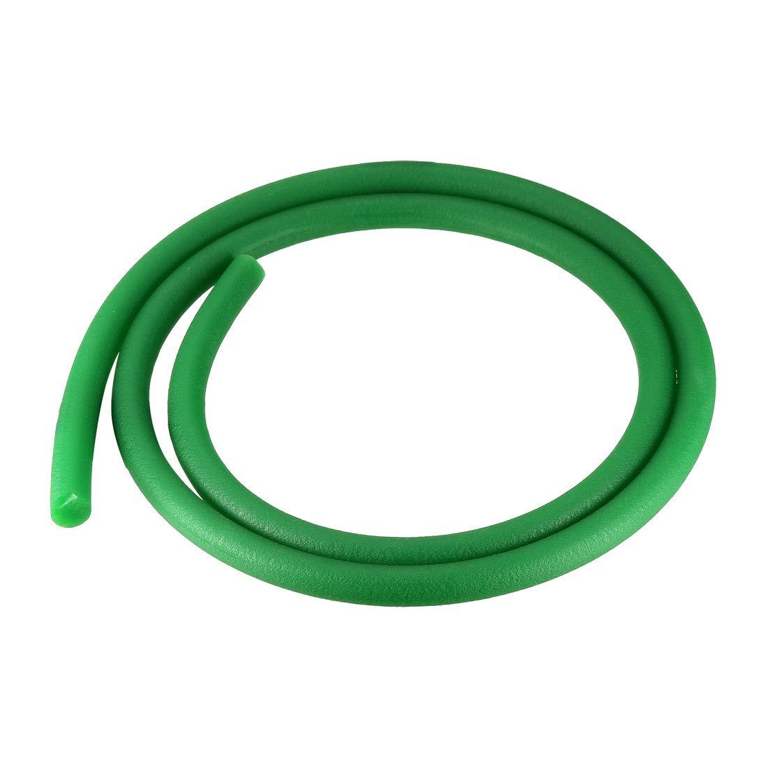 uxcell 3ft 7mm PU Transmission Round Belt High-Performance Urethane Belting Green for Conveyor Bonding Machine Dryer