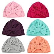 Ademoo Baby Girls Beanie Hat with Bow Toddler Cotton Bowknot Cap(Bow 6 Colors)