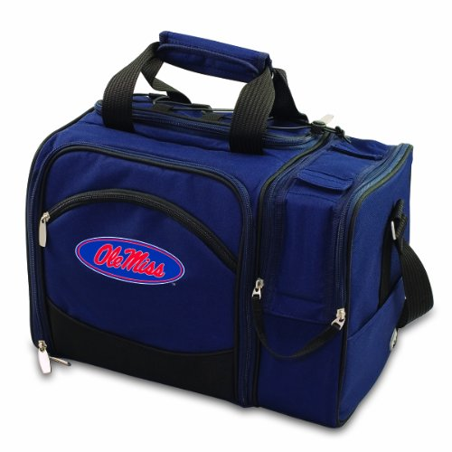 NCAA Ole Miss Rebels Malibu Picnic Tote with Deluxe Picnic Service for Two