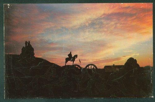 (Stonewall Jackson at SUNSET SCENE Equestrian Statue Civil War US Postcard)