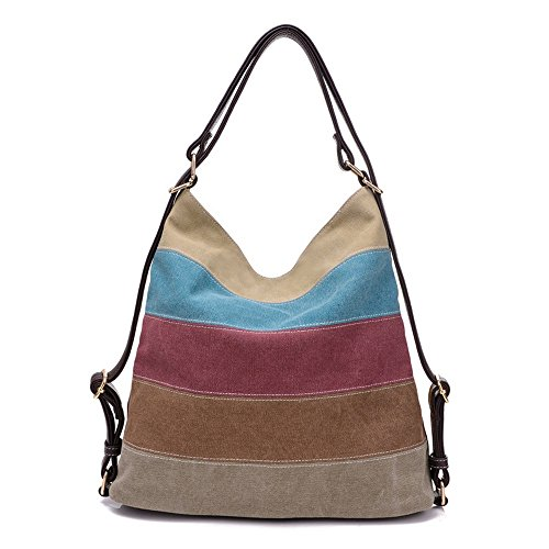 shaped High Purses Satchel Tote Womens Canvas Bag Color Casual Shoulder Handbag Hit Handbags Retro Heart capacity Afcity zRqIBwgw