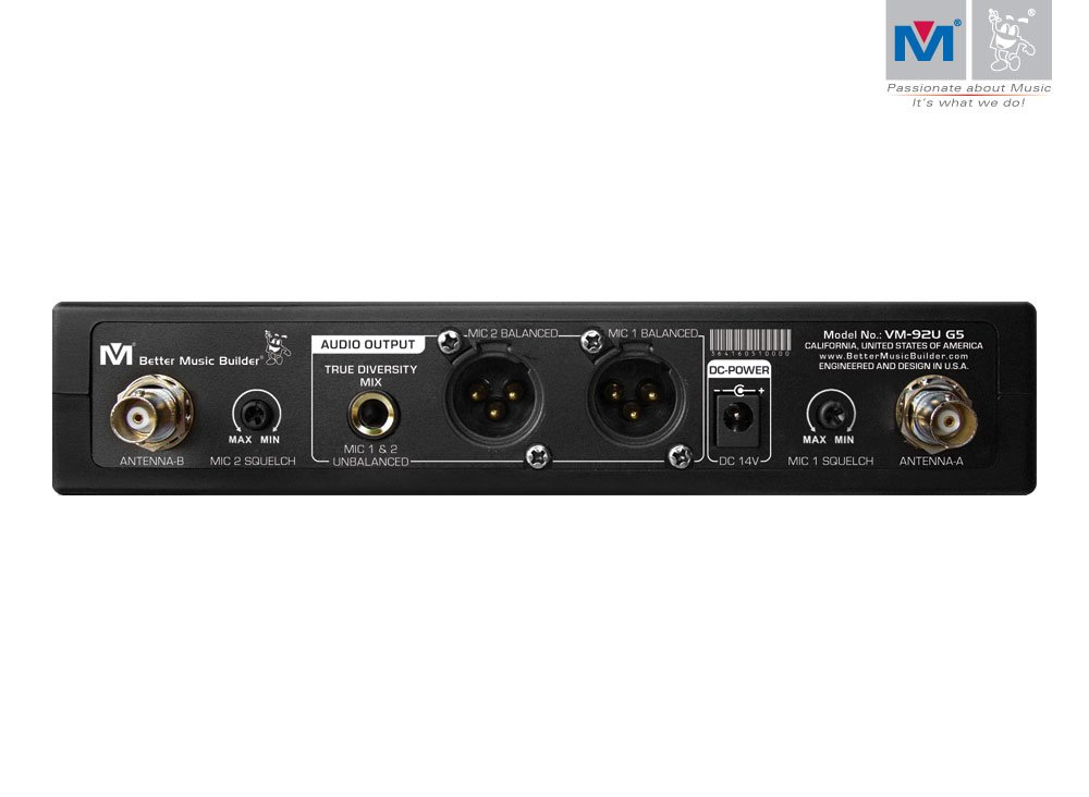 Better Music Builder VM-92U G5 Dual Channel UHF Wireless Microphone System by Better Music Builder (Image #2)