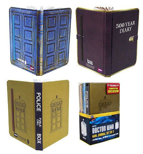 Doctor Who Set of 3 Mini-Journals
