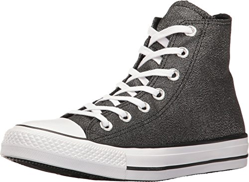 Converse Womens Chuck Taylor All Star Hi Top Fashion Sneaker Shoe, White/Black/White, 8